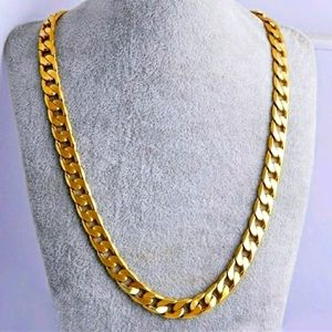 18K Gold plated Necklace for Men and Women.